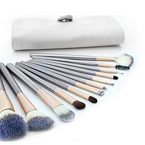 cheap Makeup Brush Sets-Professional Makeup Brushes Makeup Brush Set 12pcs Full Coverage Goat Hair Wood Makeup Brushes for Makeup Brush Set