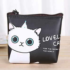 cheap Cases & Purses-Cartoon Cat Pattern PU Leather Change Purse