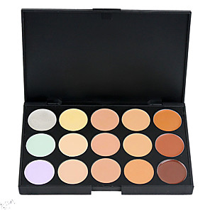 cheap Blush-15 Colors Powders Concealer / Contour 1 pcs Dry / Combination / Oily Concealer Face China Makeup Cosmetic