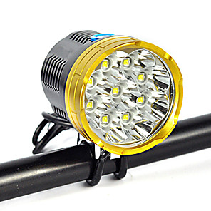 cheap Bike Lights & Reflectors-Headlamps Headlight 1200 lm LED LED Emitters 1 Mode Anglehead Suitable for Vehicles Super Light Camping / Hiking / Caving Everyday Use Cycling / Bike