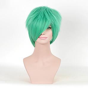 cheap Synthetic Trendy Wigs-Synthetic Wig Bakugou Katsuki Deku My Hero Academia Boko No Hero Curly Curly Wig Medium Length Green Synthetic Hair Women's Green hairjoy