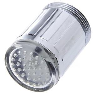 cheap Kitchen Faucets-LED Water Faucet Light Blue Glow Shower Head Kitchen Tap Aerators