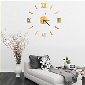 cheap Wall Clocks-Modern Contemporary Wood / Plastic AA Decoration Wall Clock No