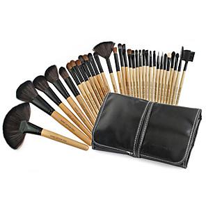 cheap Makeup Brush Sets-Professional Makeup Brushes Makeup Brush Set 32pcs Portable Professional Goat Hair Wood Makeup Brushes for Makeup Brush Set
