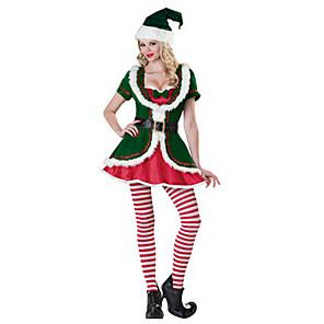 economico Costumi da Babbo Natale & Costumi di Natale-Costumi da Babbo Natale Costumi Cosplay Uniforme sexy Per donna Terylene Accessori Cosplay Natale / Carnevale costumi / Cappelli