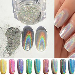 1g box colorful laser silver mirror powder rainbow nail powder dust glitter  chrome pigment nail art 414f71558f14
