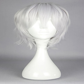 cheap Costume Wigs-Synthetic Wig Cosplay Wig Curly Curly Wig Silver White Synthetic Hair Women's White Gray hairjoy