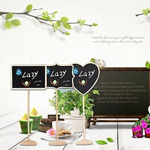 povoljno Raspored sjedenja i držači kartica-Drvo Place Cards Kartice s brojem stola Uspravni stič Poli Bag 12