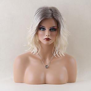 cheap Human Hair Capless Wigs-Human Hair Capless Wigs Human Hair Wavy / Classic Short Hairstyles 2019 Wig Daily