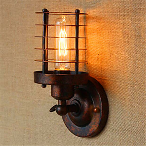 cheap Indoor Wall Lights-Rustic / Lodge / Country Wall Lamps & Sconces Metal Wall Light 110-120V / 220-240V 40W