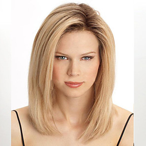 cheap Synthetic Trendy Wigs-Synthetic Wig Straight Straight Wig Blonde Blonde Synthetic Hair Women's Heat Resistant Blonde