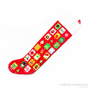cheap Christmas Decorations-Christmas Decorations Lovely Textile Imaginative Play, Stocking, Great Birthday Gifts Party Favor Supplies Boys' Girls' Adults'