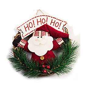 cheap Christmas Toys-Christmas Decorations Santa Suits Lovely Textile Wood Imaginative Play, Stocking, Great Birthday Gifts Party Favor Supplies Boys' Girls' Adults'
