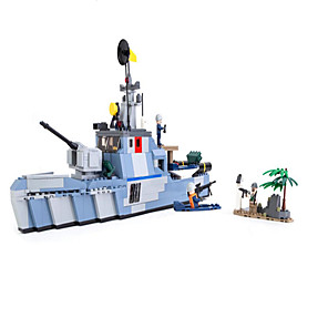 cheap Building Blocks-GUDI Action Figure Building Blocks Military Blocks Educational Toy Construction Set Toys Warship Aircraft Carrier Soldier compatible ABS Legoing Boys' Girls' Toy Gift / Kid's