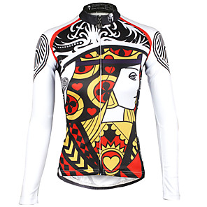 cheap Cycling Jerseys-ILPALADINO Women's Long Sleeve Cycling Jersey Winter Red Plus Size Bike Jersey Top Mountain Bike MTB Road Bike Cycling Breathable Quick Dry Ultraviolet Resistant Sports Clothing Apparel / Stretchy