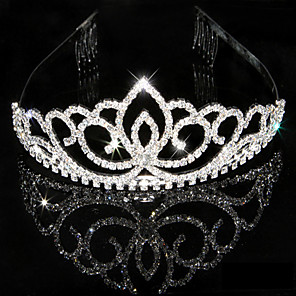 cheap Wedding Veils-Women's Elegant & Luxurious Crystal Rhinestone Wedding Special Occasion - Crystal Surface