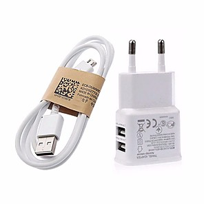 cheap Charger Kit-Home Charger / Portable Charger USB Charger EU Plug Fast Charge 2 USB Ports 3.1 A for
