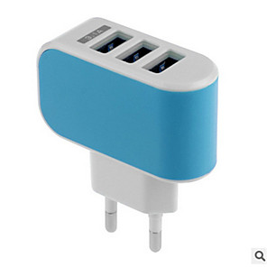 cheap Wall Chargers-Home Charger USB Charger US Plug / EU Plug Fast Charge / Multi Ports 3 USB Ports 3.1 A for