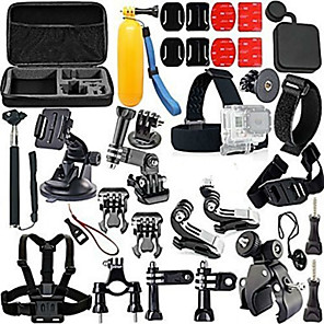 cheap Accessories For GoPro-Accessory Kit For Gopro Floating Hand Grip Waterproof Adjustable Anti-Shock 44 pcs For Action Camera Gopro 2 Gopro 3+ Diving Surfing Ski / Snowboard EVA ABS