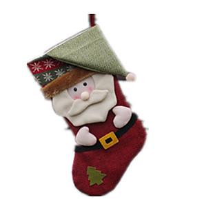 cheap Christmas Toys-Socks Santa Suits Elk Plush Boys' Girls' Toy Gift 1 pcs