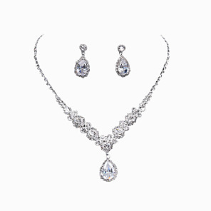 cheap Jewelry Sets-Women's Rhinestone Jewelry Set - Include Silver For Wedding / Party