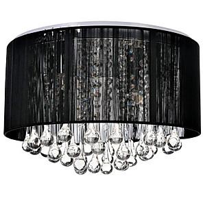 cheap Ceiling Lights-4-Light 40CM(15.6inch) Crystal Flush Mount Lights Crystal Fabric Brushed Modern Contemporary 110-120V / 220-240V / E12 / E14