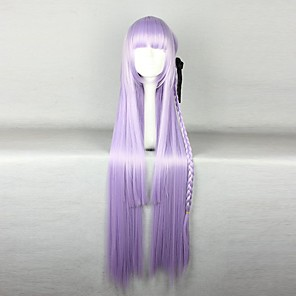 cheap Costume Wigs-Synthetic Wig Cosplay Wig Straight Straight Wig Purple Synthetic Hair Women's Braided Wig African Braids Purple hairjoy