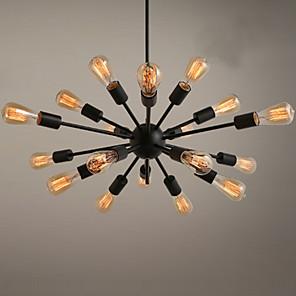 cheap Ceiling Lights-18 Bulbs Ecolight™ 75 cm Designers Chandelier Metal Sputnik Painted Finishes Traditional / Classic 110-120V / 220-240V