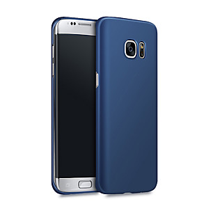 cheap Samsung Case-Case For Samsung Galaxy S8 Plus / S8 / S7 edge Shockproof / Ultra-thin Back Cover Solid Colored Hard PC