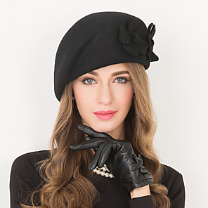 cheap Pearl Necklaces-Wool Kentucky Derby Hat / Hats with 1 Wedding / Special Occasion / Casual Headpiece