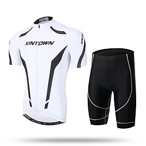 cheap Cycling Jersey & Shorts / Pants Sets-Men's Short Sleeve Cycling Jersey with Shorts Bike Shorts Pants / Trousers Jersey Breathable 3D Pad Quick Dry Ultraviolet Resistant Reflective Strips Sports Spandex Coolmax® Mesh Novelty Clothing