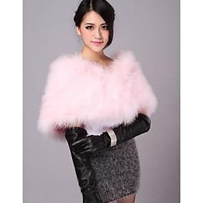 cheap Wedding Wraps-Shrugs Feather / Fur Wedding / Party Evening / Casual Wedding  Wraps / Fur Wraps With Smooth / Fur