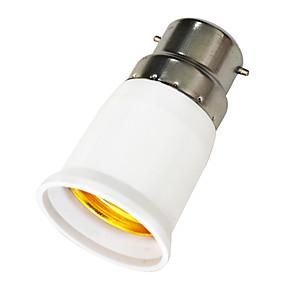 cheap Lamp Bases & Connectors-JIAWEN 1pc B22 to E27 E27 85-265 V Light Socket Plastic