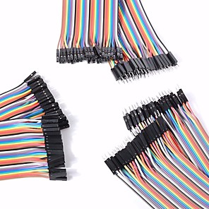 cheap DIY Kits-Universal Male to Male / Male to Female / Female to Female DuPont Cables Set for Arduino