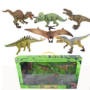 cheap Animal Action Figures-Dragon & Dinosaur Toy Pretend Play Model Building Kit Dinosaur Figure Dinosaur Toy Jurassic Dinosaur Dinosaur Plastic 6 pcs Party Favors, Science Gift Education Toys for Kids and Adults