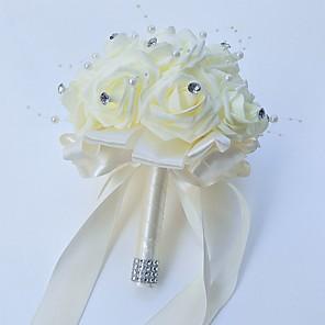 "cheap Wedding Flowers-Wedding Flowers Bouquets Wedding / Party / Evening Foam / Satin 9.84""(Approx.25cm)"