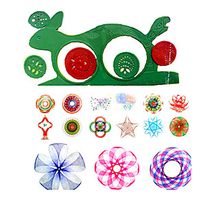 cheap Drawing Toys-Drawing Toy Drawing Tablet Spirograph Design Ruler Fun Plastic Kid's Toy Gift