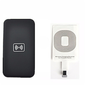 cheap Wireless Chargers-Qi Wireless Charging Kit for iPhone 6 5 5c 5s Wireless Charger Charging Pad and Receiver Card kit