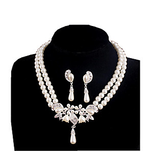 cheap Jewelry Sets-Women's Pearl Pearl Earrings Jewelry For Daily