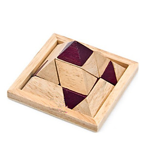 cheap Wooden Puzzles-Wooden Puzzle IQ Brain Teaser Kong Ming Lock IQ Test Adults' Boys' Girls' Toy Gift