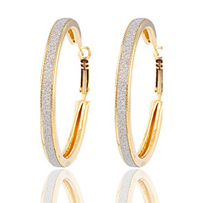 cheap Religious Jewelry-Women's Hoop Earrings Silver Plated Gold Plated Earrings Jewelry Gold / Silver For Wedding Party