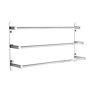 cheap Towel Bars-Towel Racks 3-Tiers Bath Towel Bar , Stainless Steel, Wall Mount, Mirror polished finished, High quality