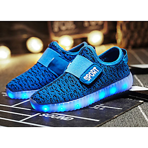 cheap Kids' LED Shoes-Boys' Trainers / Athletic Shoes LED / Comfort / LED Shoes Knit Little Kids(4-7ys) / Big Kids(7years +) LED / Luminous Black / Yellow / Dusty Rose Fall / TR