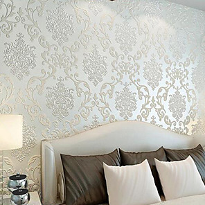 cheap Wall Stickers-Art Deco Home Decoration Classical Wall Covering, Non-woven Paper Material Adhesive required Wallpaper, Room Wallcovering