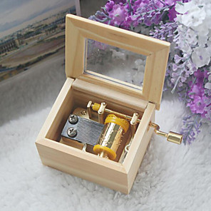 cheap Music Boxes-Music Box Wooden Music Box Antique Music Box Classic & Timeless Creative Novelty Unique Wooden Metalic Women's Boys' Girls' Kid's Adults Kids Baby Children's Baby & Toddler Graduation Gifts Toy Gift