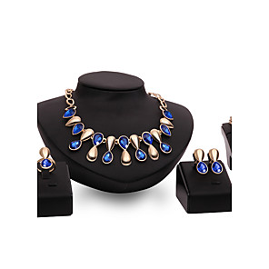 cheap Lolita Dresses-Women's Jewelry Set Rings Set Stacking Stackable Drop Ladies Punk Earrings Jewelry Purple / Blue For Wedding Party Daily