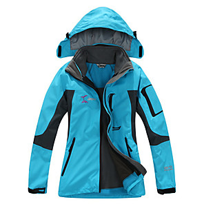 cheap Softshell, Fleece & Hiking Jackets-Women's Hiking Jacket Winter Outdoor Thermal / Warm Waterproof Windproof Breathable Fleece Softshell Jacket Top Skiing Camping / Hiking Hunting Fuchsia Yellow Red S M L XL XXL / Quick Dry / Quick Dry