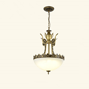 cheap Tattoo Machines-3-Light 40 cm Mini Style Chandelier Metal Glass Painted Finishes Modern Contemporary 110-120V / 220-240V