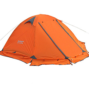cheap Tents, Canopies & Shelters-FLYTOP 2 person Tent Outdoor Portable Rain Waterproof Warm Double Layered Camping Tent >3000 mm for Hiking Camping Traveling PVC(PolyVinyl Chloride) Oxford