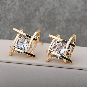cheap Earrings-Women's Girls' Crystal Stud Earrings Drop Earrings Crystal Gold Plated Earrings Jewelry Gold / Silver For Wedding Party Casual 1pc